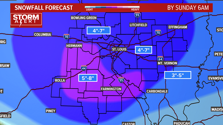 Ksdk Weather Map.Storm Alert Winter Storm Warning Issued For Weekend Snow Storm