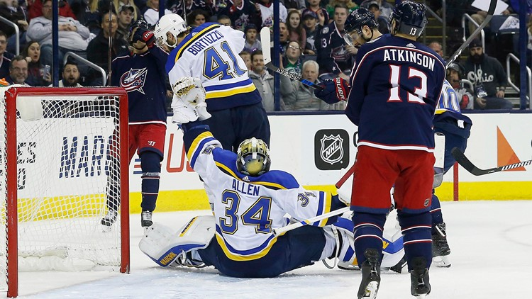 With Saturday's win, the Blues moved into the second wild-card spot with just seven games remaining.