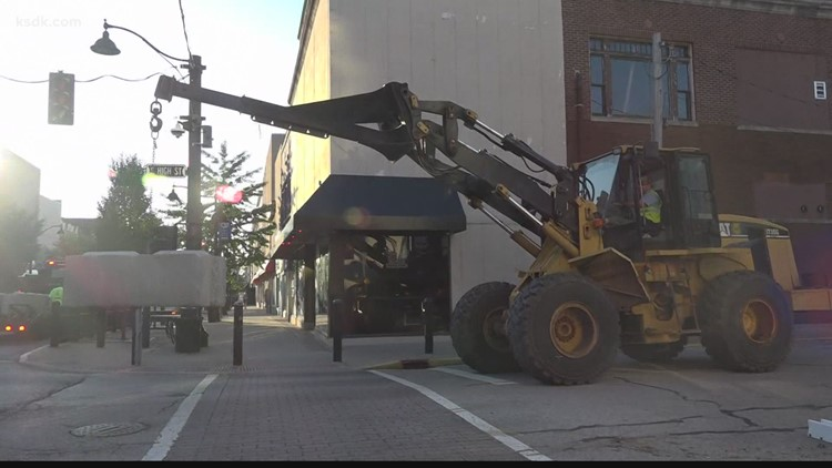 Belleville removes street barricades as Illinois lifts COVID-19 restrictions