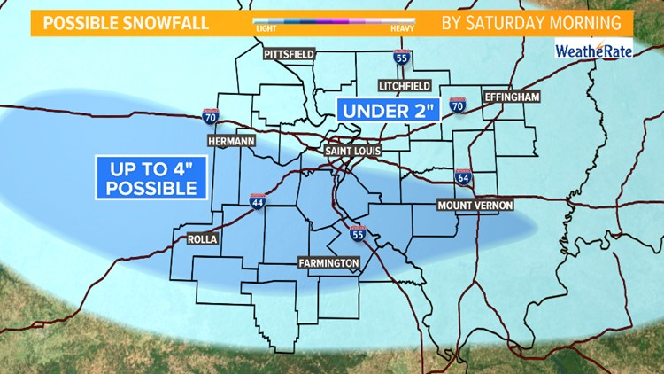 Rain and snow expected this weekend