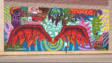 Instagram-worthy mural spreads its wings in The Grove