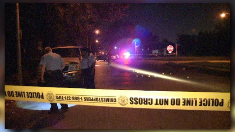 The suspects parked the car and started shooting at the victim.