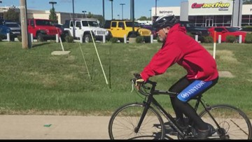St. Peters man biking across U.S. for addicts