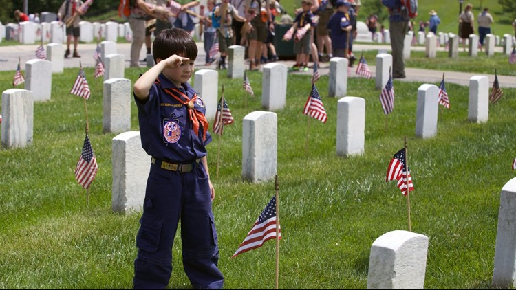 The laying of 150,000 flags should take around two hours.