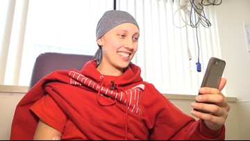 College basketball player helps team battle on the court from St. Louis Children's cancer ward