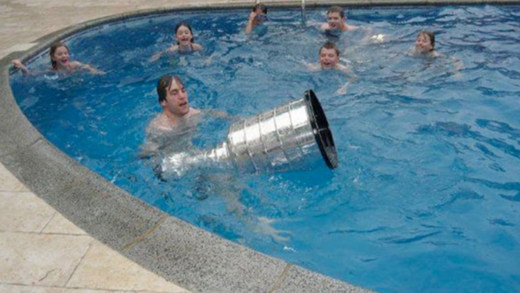 Penguins captain unsuccessfully taking the Stanley Cup swimming follow the victory in 1991.