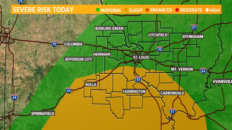 Ksdk Weather Map.Severe Weather Threat Tempered By Earlier Rain Ksdk Com