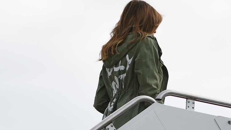 First Lady Melania Trump's jacket sparks controversy Photogallery