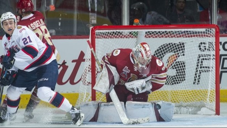 Netminder helped Acadie-Bathurst win QMJHL, Memorial Cup, is the wildcard to join San Antonio at AHL level this season