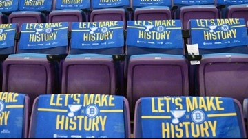 Own a piece of history! You can purchase a pair of seats from the Enterprise Center