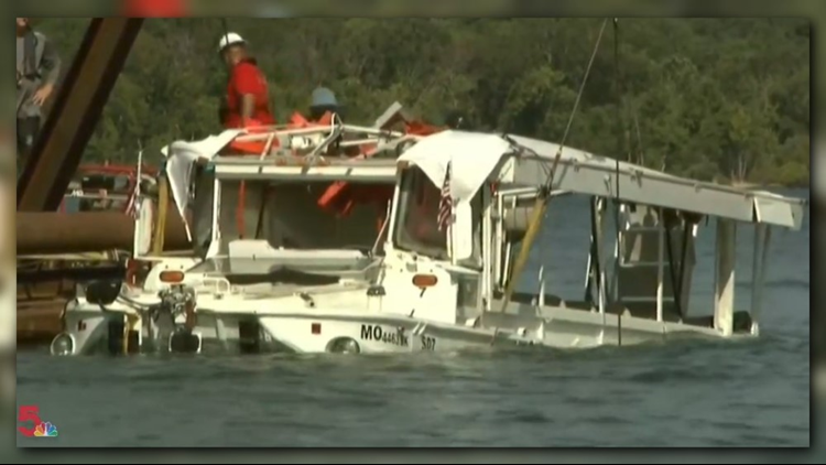 Duck boat tragedy: Stricken vessel raised to surface of Table Rock Lake