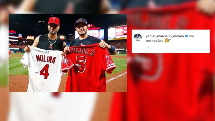 Yadier Molina weighs in on Pujols news on Instagram