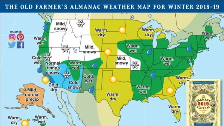 Ksdk Weather Map.Old Farmer S Almanac Predicts More Rain Less Snow For Much Of