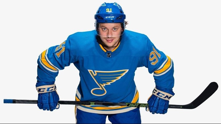 47fdafd2328 Blues unveil throwback jerseys for 2018-19 season | ksdk.com