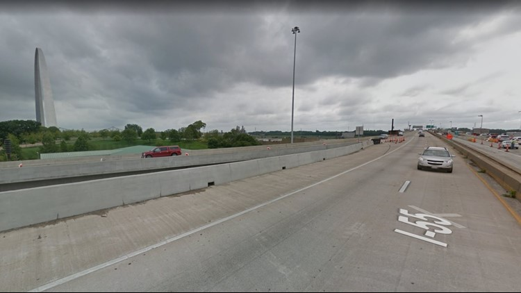 The lane closures will be completed as crews demolish a section of the Martin Luther King approach which carries traffic over the westbound lanes of I-55 and I-64.