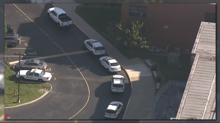 The all-clear was given after St. Louis County police officers were on scene.