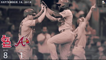 Cards top Atlanta 8-1, win third straight game