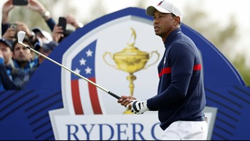 Tiger Woods plays poorly in fourballs as his Ryder Cup day ends in defeat