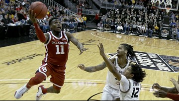 Reaves double-double pushes Oklahoma past Missouri 77-66