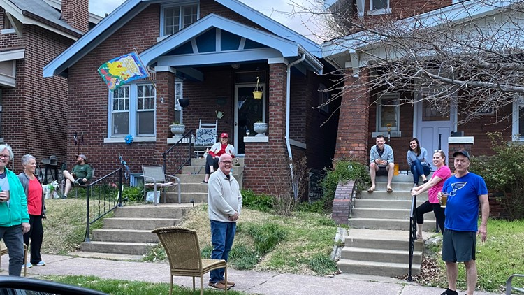 South City neighbors recreate bar atmosphere on their front lawn and porch