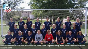 Webster women's soccer schedule announced