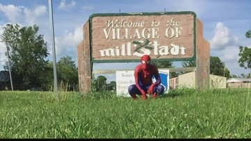 Town rallies around beloved local 'Spider-Man' in his time of need