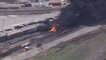 What is the chemical involved in the Dupo train derailment?