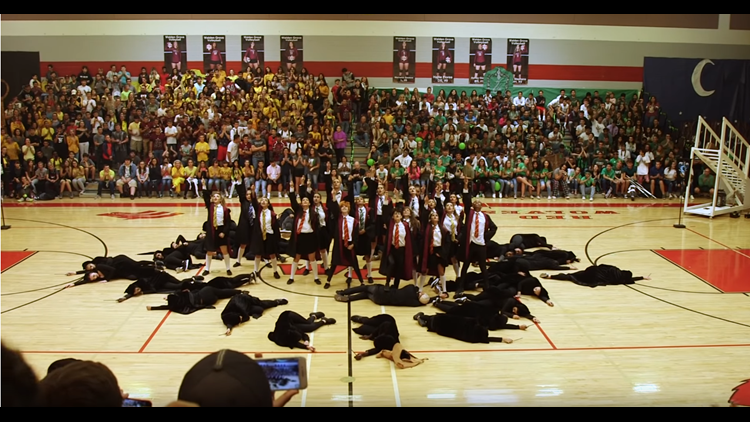 Harry Potter Camera Crew : Arizona high school dance team goes viral for harry potter themed