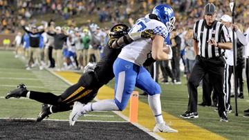 No. 14 Kentucky beats Missouri with walk-off touchdown