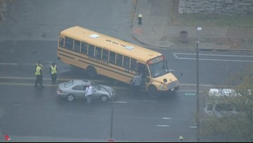 2 injured in minor crash involving school bus in south St. Louis