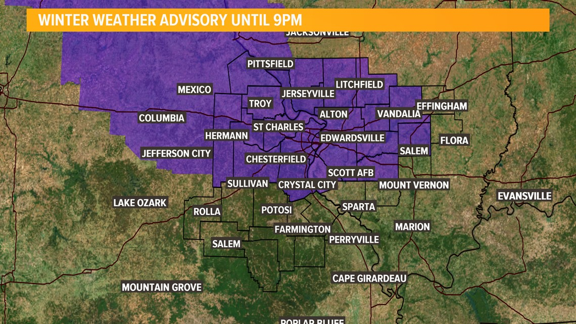 Ksdk Weather Map.Interactive Radar Winter Weather Advisory Issued Snow Showers