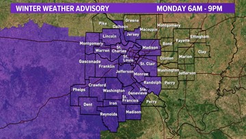 STORM ALERT | Winter Weather Advisory Monday for accumulating snow, slick roads