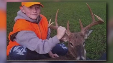 First-time 12-year-old Missouri deer hunter bags rare doe with antlers