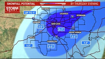 STORM ALERT | We could see one of the biggest November snowstorms ever in St. Louis on Thursday