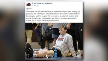 Drury wrestler shot in hunting accident