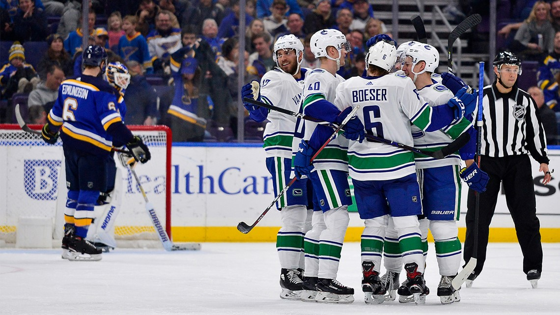 Blues embarrassed on home ice again in 6-1 loss to Canucks