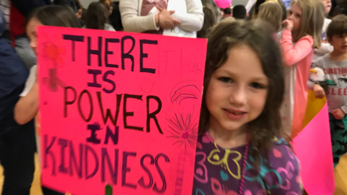 Kids march for kindness during coronavirus crisis