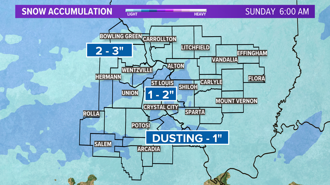 Storm Alert | Snow first and then arctic air settles into Missouri and Illinois