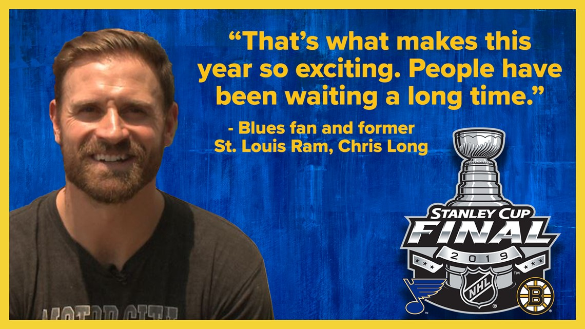 Chris Long talks about his love of the Blues and St. Louis before Game 3