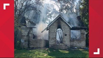Home of man accused of shooting 3 people in bizarre fireworks incident burned to the ground