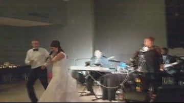 WATCH: Charles Glenn plays 'Gloria' at St. Louis couple's wedding
