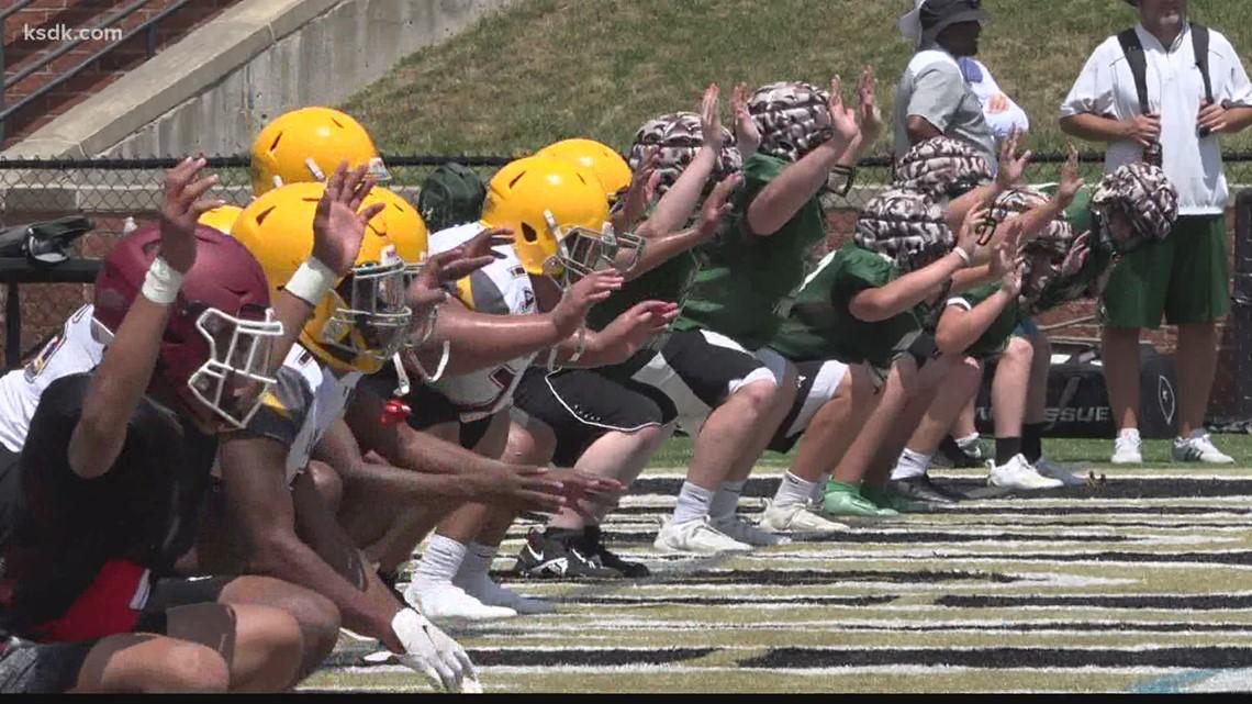 Lindenwood University holds high school football camp
