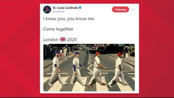 Cardinals tease London series with Cubs using Abbey Road