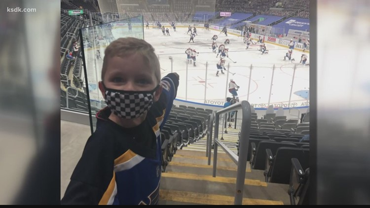 Young fan with speech disorder gets assist from the Blues