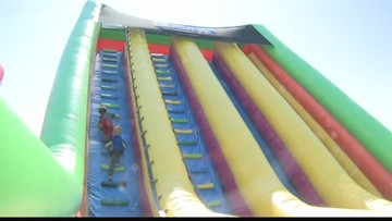 The World's Largest Bounce House is in St. Louis through the weekend