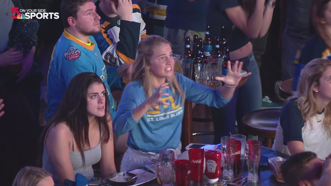 St Louis Gas Prices >> St. Louis Blues fans react to Game 3 hand pass goal in ...