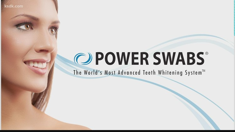 A whiter smile in minutes with Power Swabs
