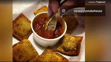 Toasted ravs with Pappy's beef brisket now available
