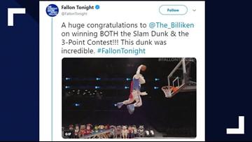Billiken wins slam dunk and 3-point shooting contest on Jimmy Fallon