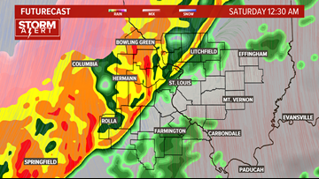 Storm Alert: Heavy rain, storms and snow to roll through St. Louis
